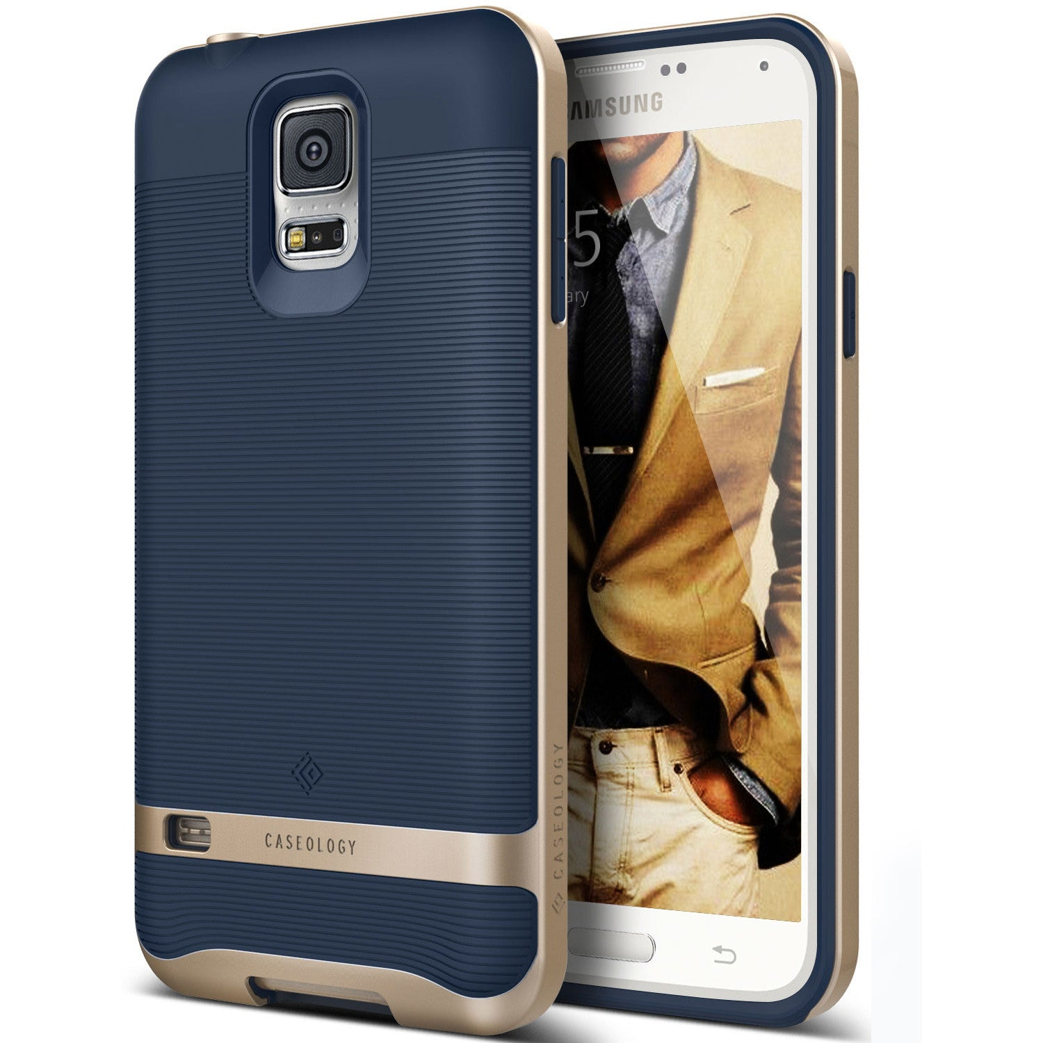 Caseology Galaxy S5 Case Wavelength Series in Navy Blue