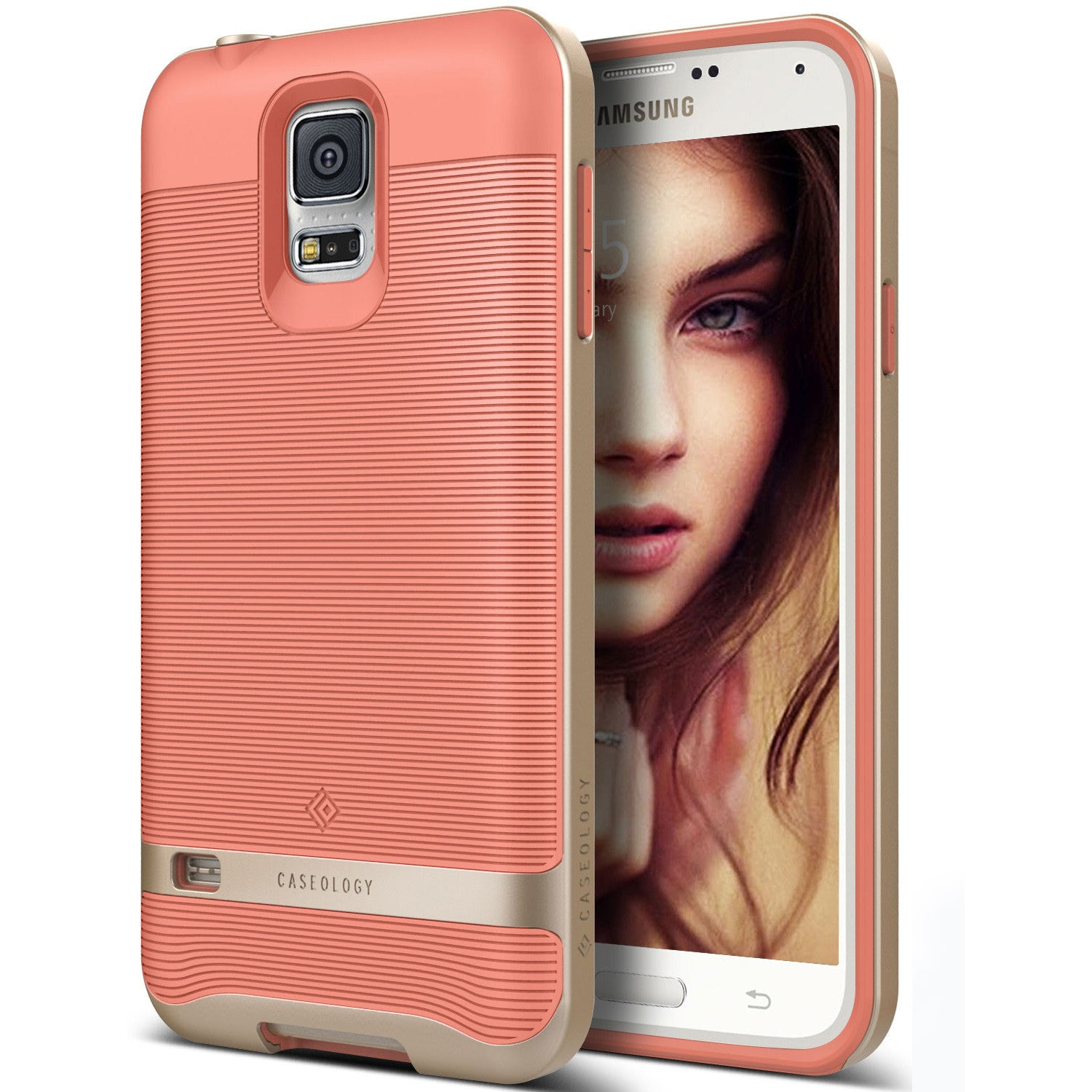 Caseology Galaxy S5 Case Wavelength Series in Coral Pink