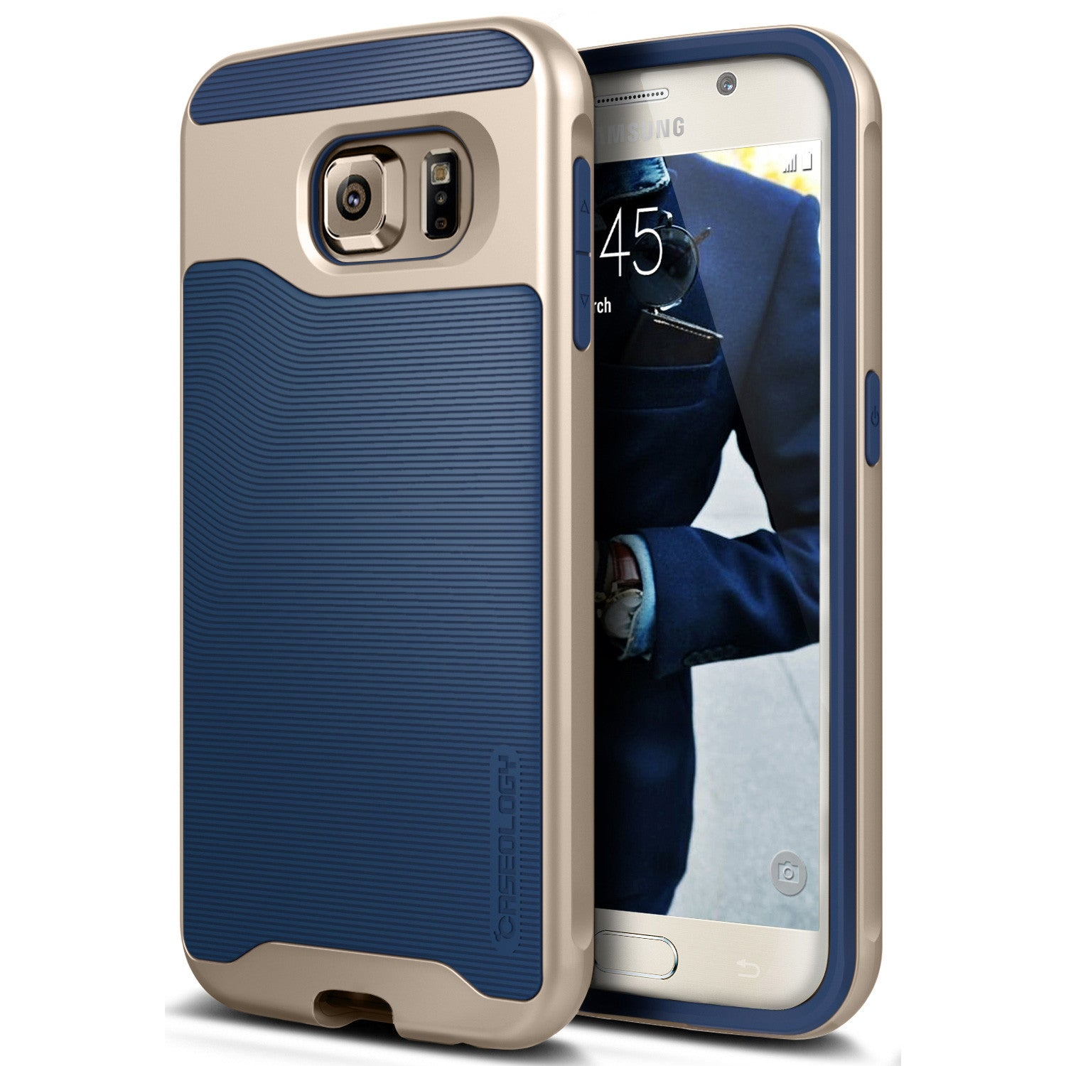 Caseology Galaxy S6 Case Wavelength Series in Navy Blue