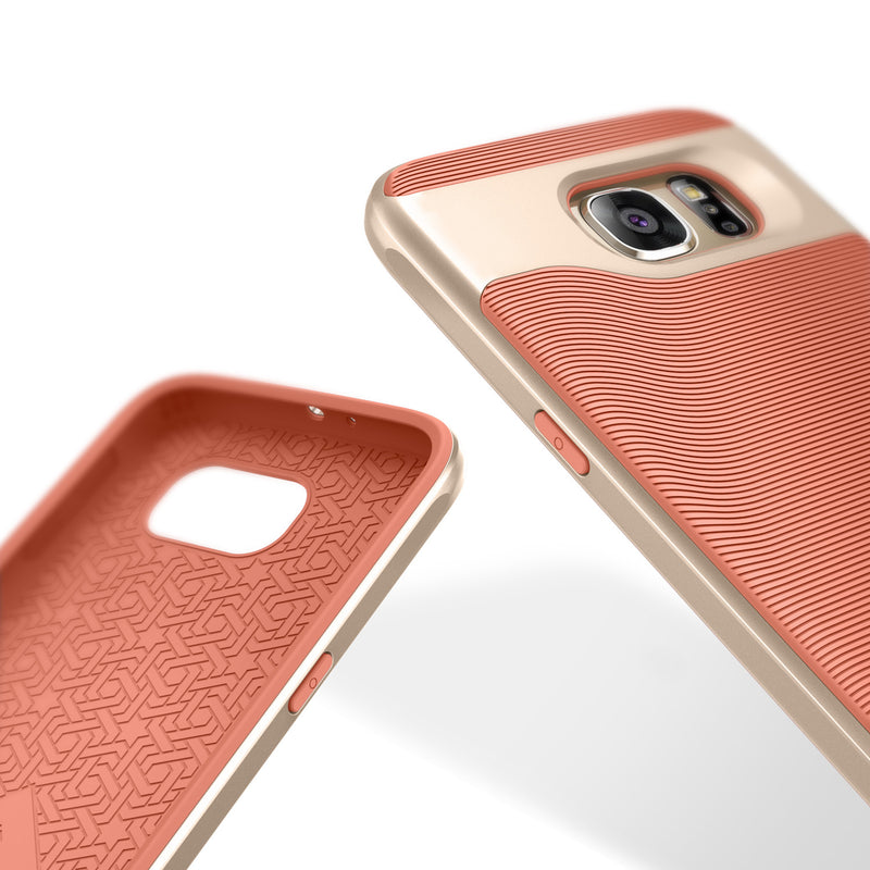 Caseology Galaxy S6 Case Wavelength Series in Coral Pink