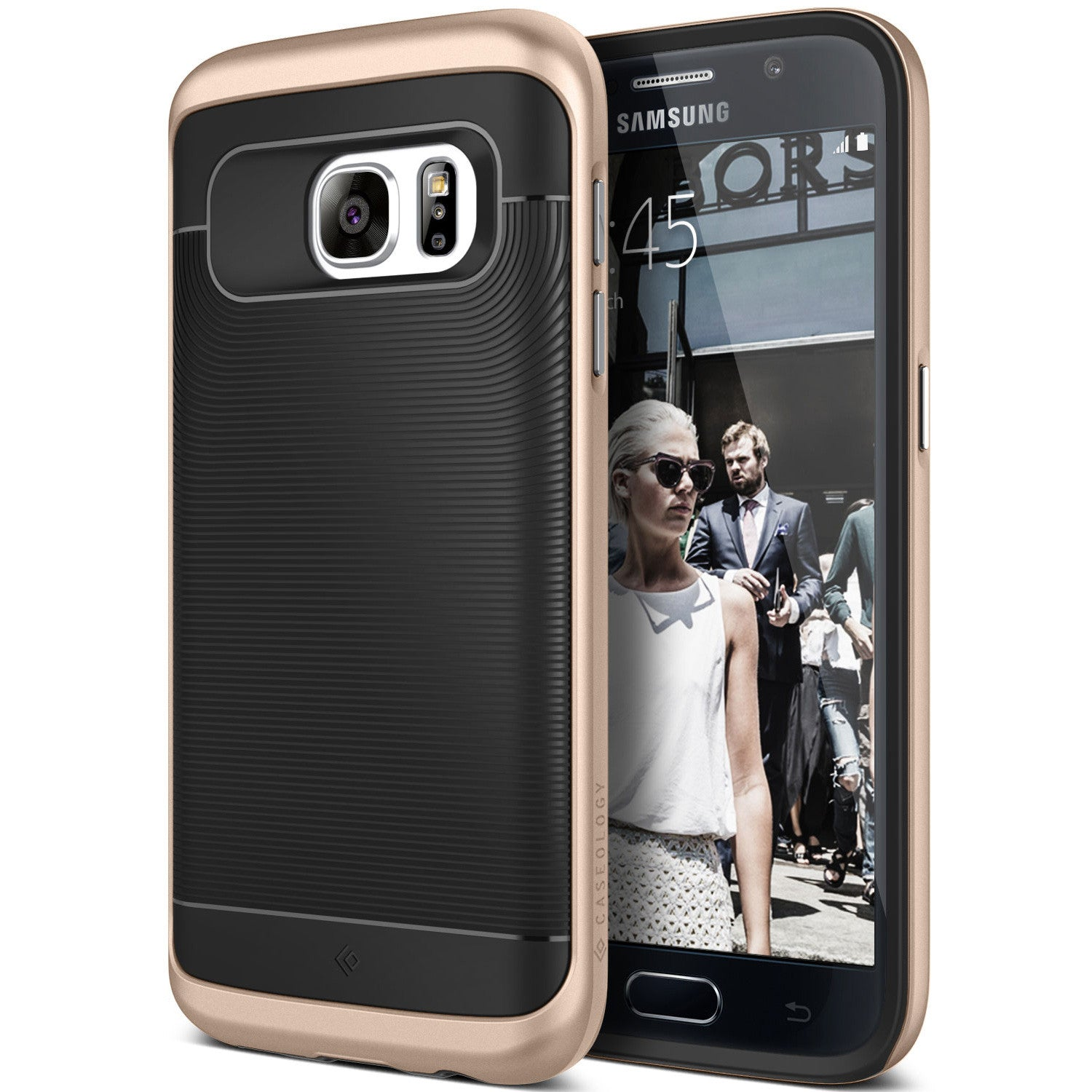 Caseology Galaxy S7 Case Wavelength Series in Black Gold
