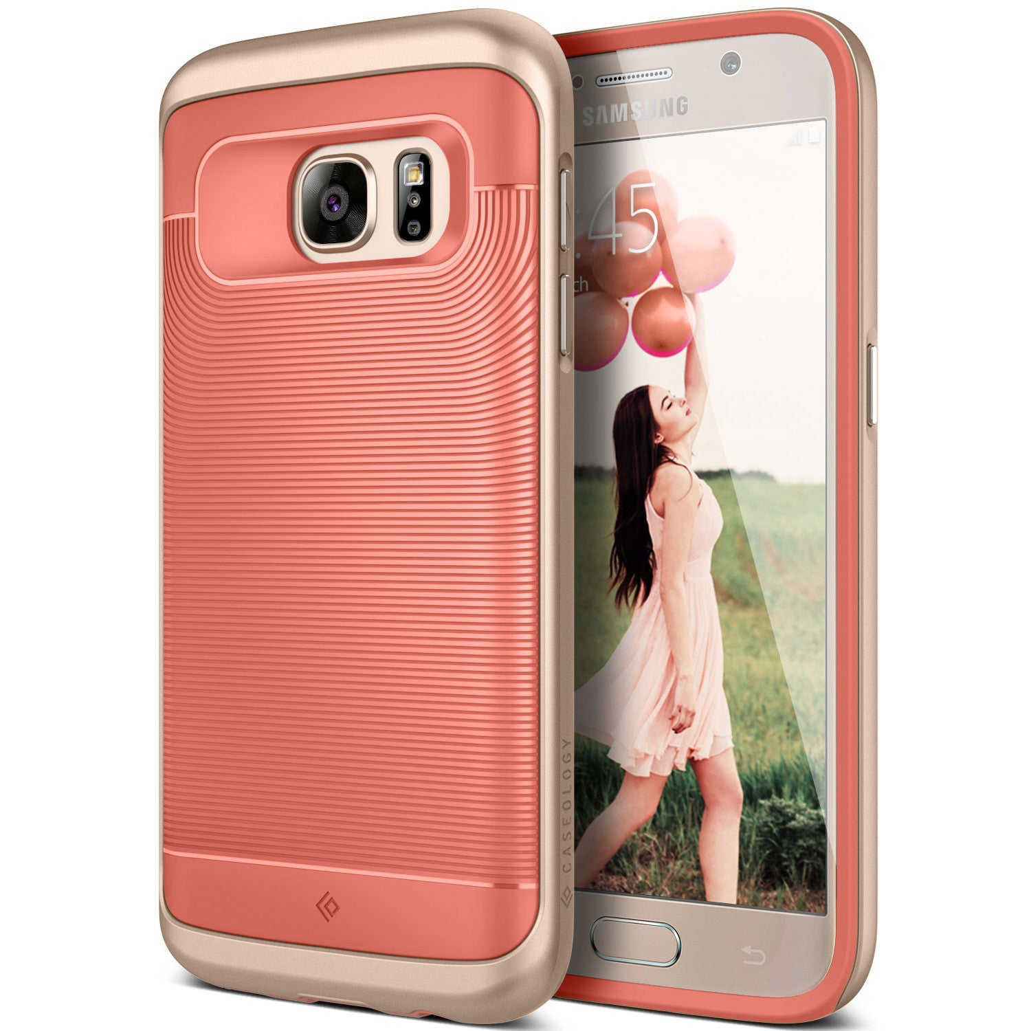 Caseology Galaxy S7 Case Wavelength Series in Pink