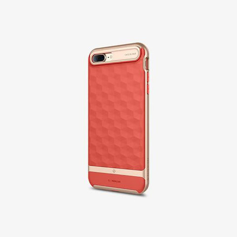 iPhone Cases -     iPhone 7 Plus Parallax  Coral Pink