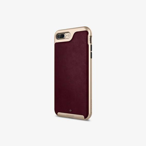 iPhone 7 Plus Cases Envoy  Leather Cherry Oak