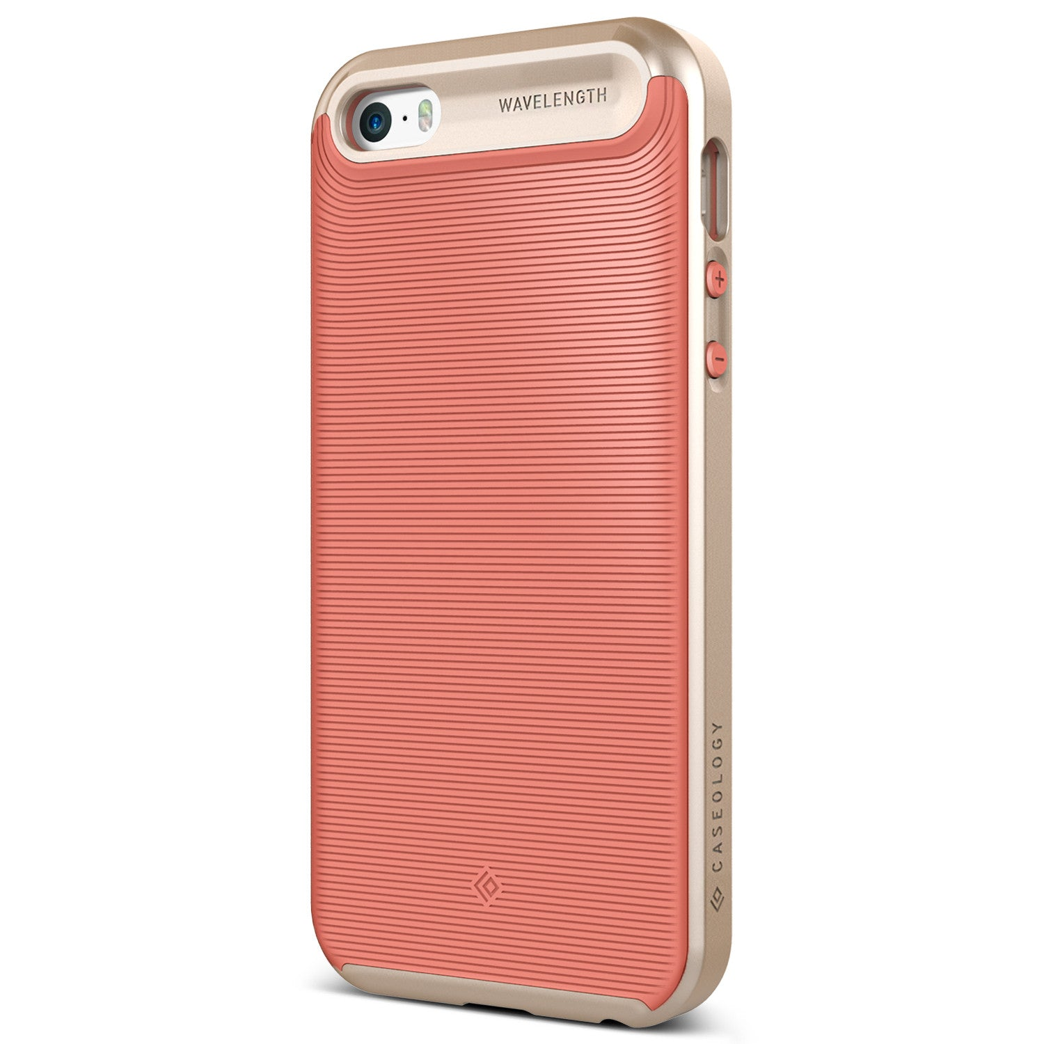 Caseology iPhone 5S 5 SE Case Wavelength Series in Coral Pink