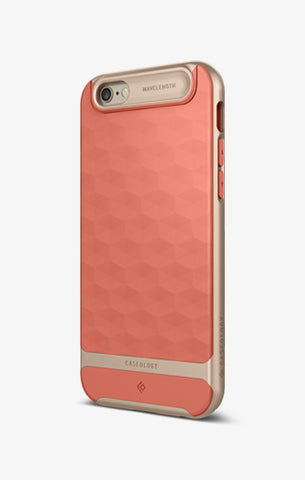 iPhone Cases -     iPhone 6S Parallax  Coral Pink