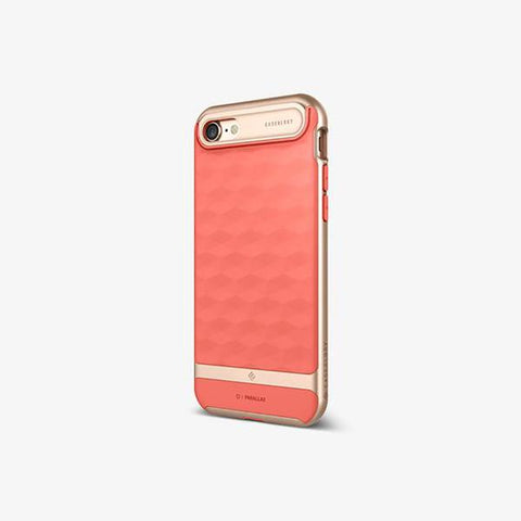 iPhone Cases -     iPhone 7 Parallax  Coral Pink