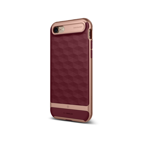 iPhone Cases -     iPhone 8 Cases Parallax  Burgundy