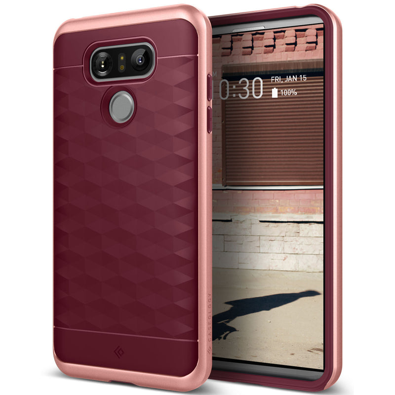 Caseology LG G6 Case Parallax Series in Burgundy