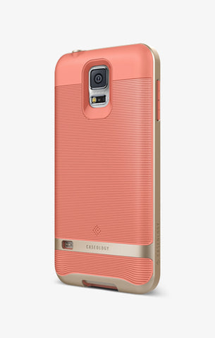 Galaxy S5 Cases Wavelength  Coral Pink