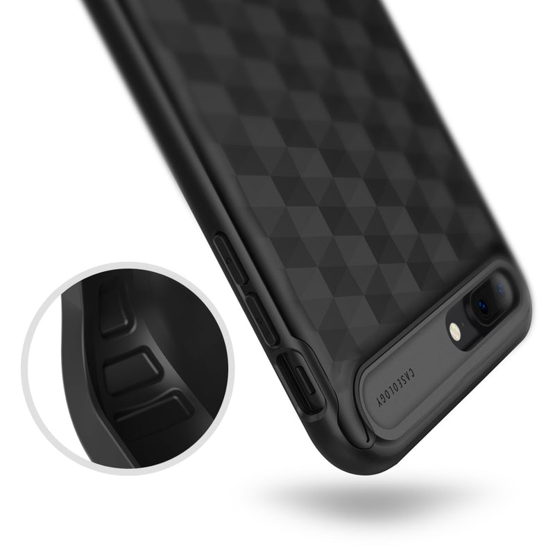 Caseology iPhone 7 Plus Envoy Series Matte Black case air cushion drop protection view
