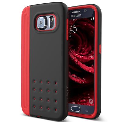Caseology Galaxy S6 Case Threshold Series in Red Black