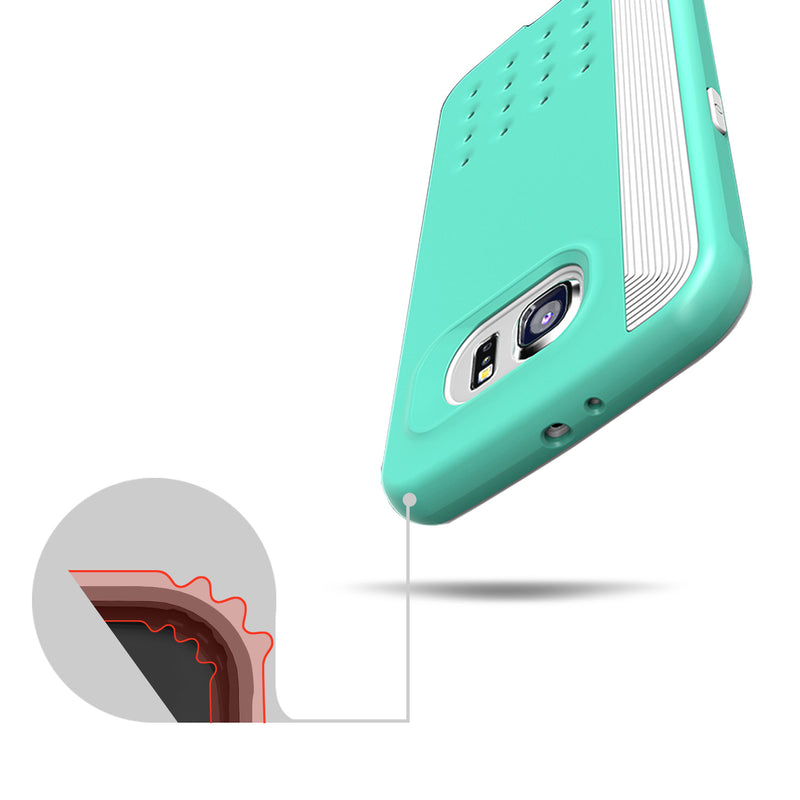 Caseology Galaxy S6 Case Threshold Series in Turquoise Mint