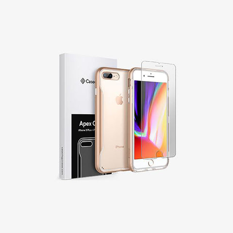 iPhone 8 Plus Apex Clear and Tempered Glass Screen Protector