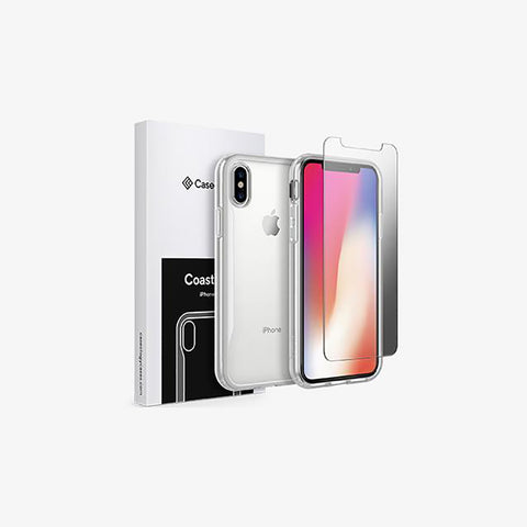 iPhone X Coastline and Tempered Glass Screen Protector