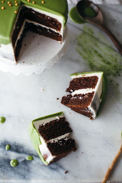 Macha White Chocolate Cake on Smooth 8