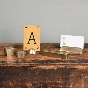 HomArt Cast Iron Cube Place Card Holder - Set of 8
