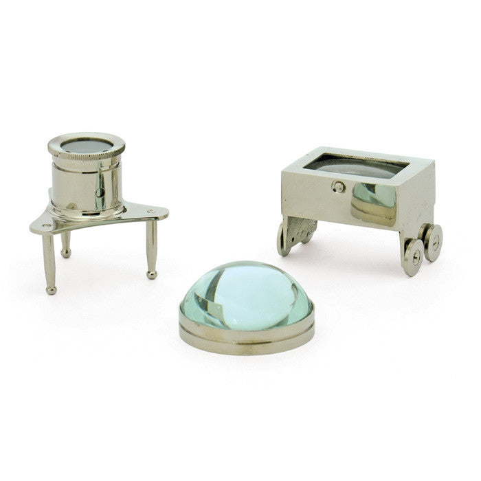 GO Home Set Of Three Jewelers Magnifiers
