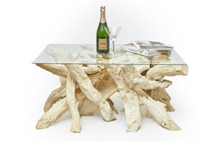 Driftwood Coffee Table Base- Bleached