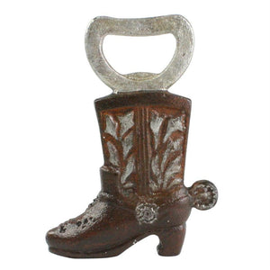 HomArt Cowboy Boot Bottle Opener - Rust - Set of 6