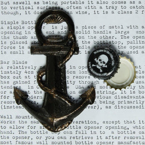 HomArt Anchor Bottle Opener - Natural - Set of 6