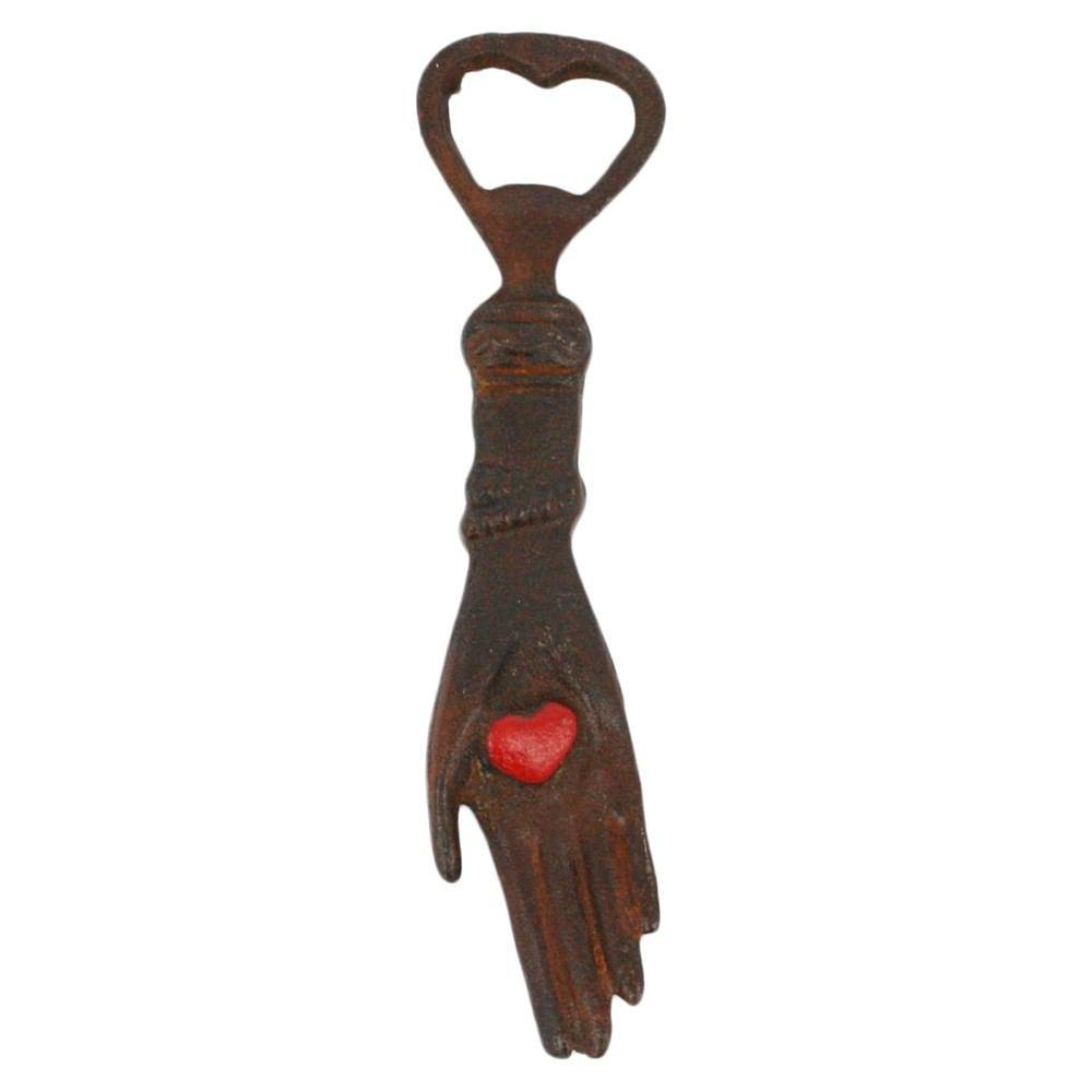 HomArt Hand With Heart Bottle Opener - Natural - Set of 6