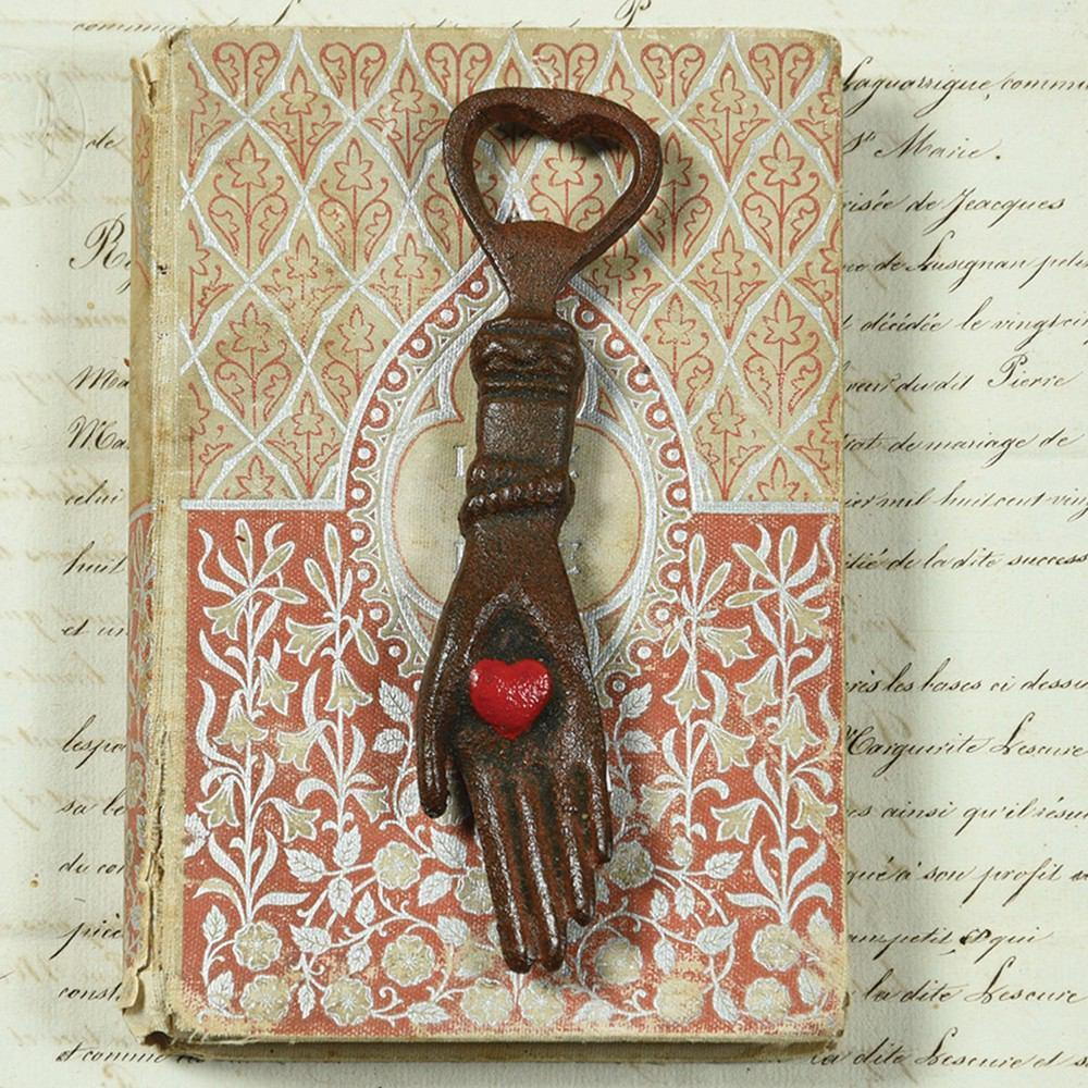 HomArt Hand With Heart Bottle Opener - Natural - Set of 6 - Feature Image