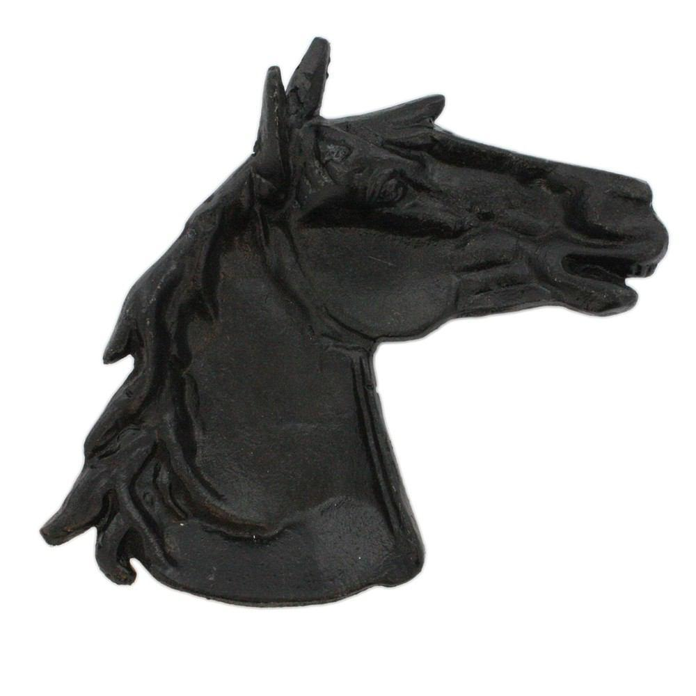 HomArt Horse Head Tray - Cast Iron - Antique Black - Set of 6