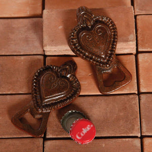 HomArt Sacred Heart Bottle Opener - Rust - Set of 6