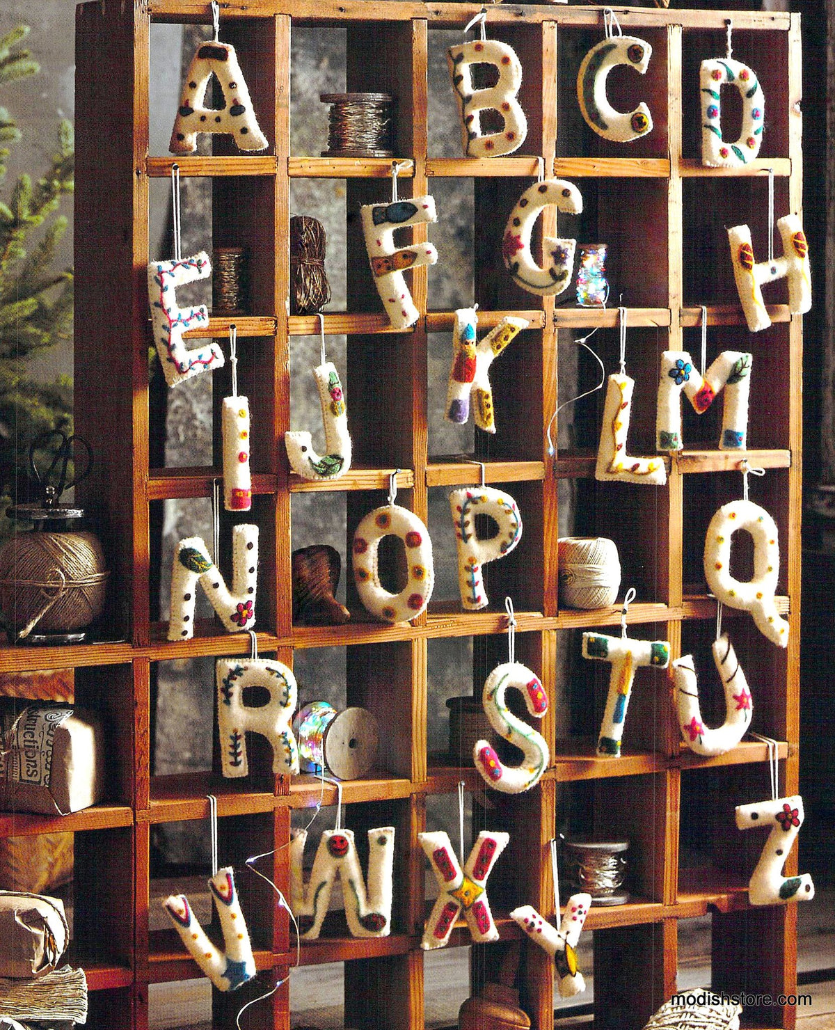 Roost Artful Alphabet Ornaments