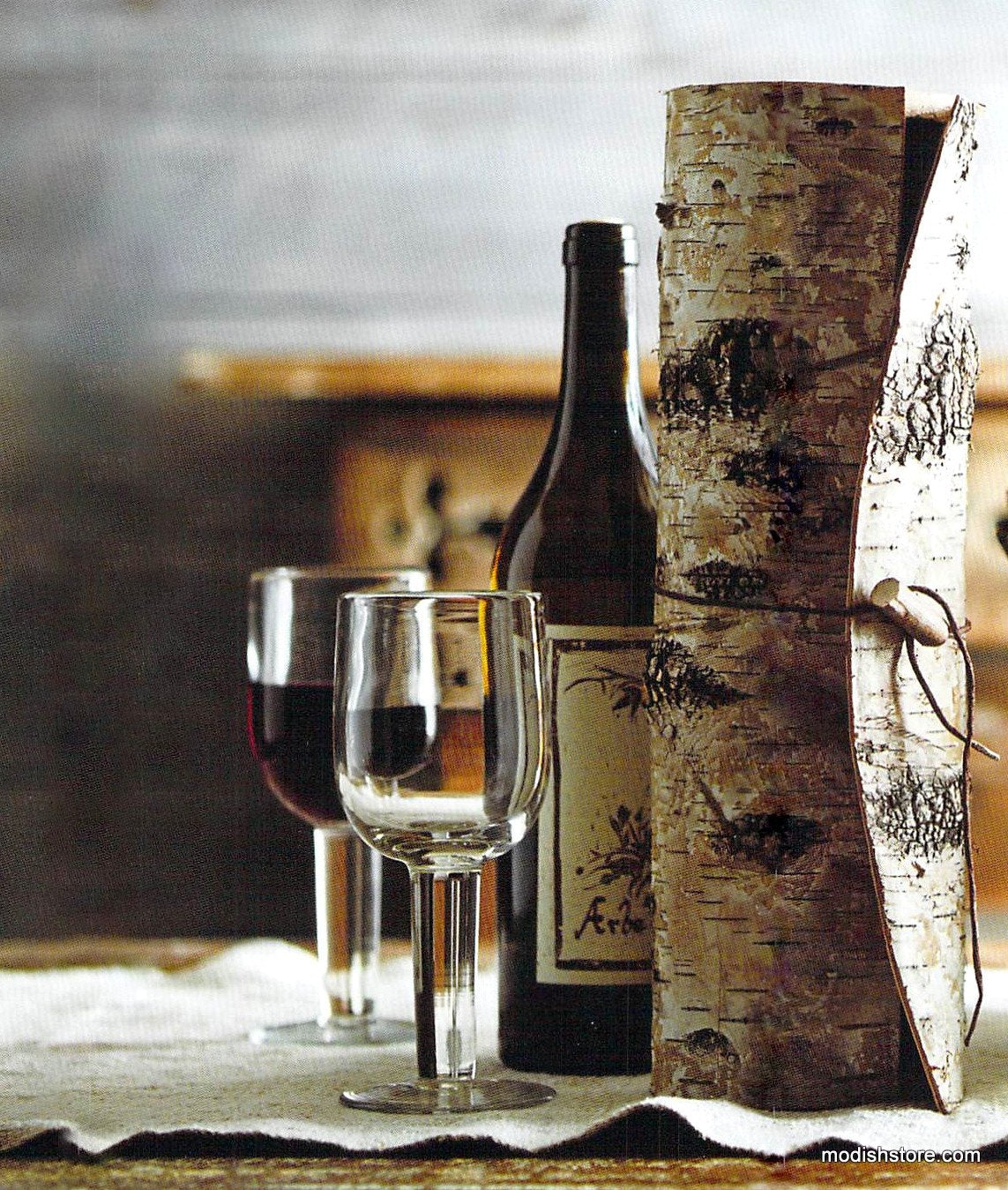 Roost Birch Bark Wine Cylinder - Set Of 4
