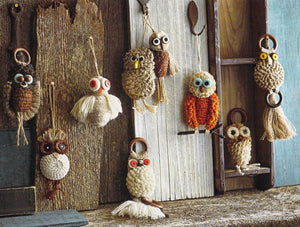 Roost Jute Owl Ornaments - Set Of 9