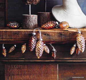 Roost Glass Pine Cone Light Strands