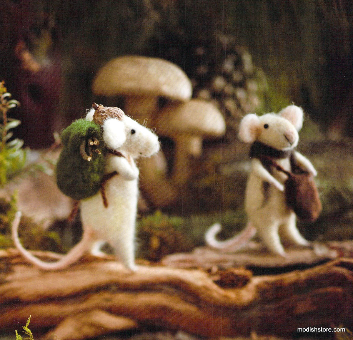 Roost Traveling Mice Ornaments -  Set Of 6