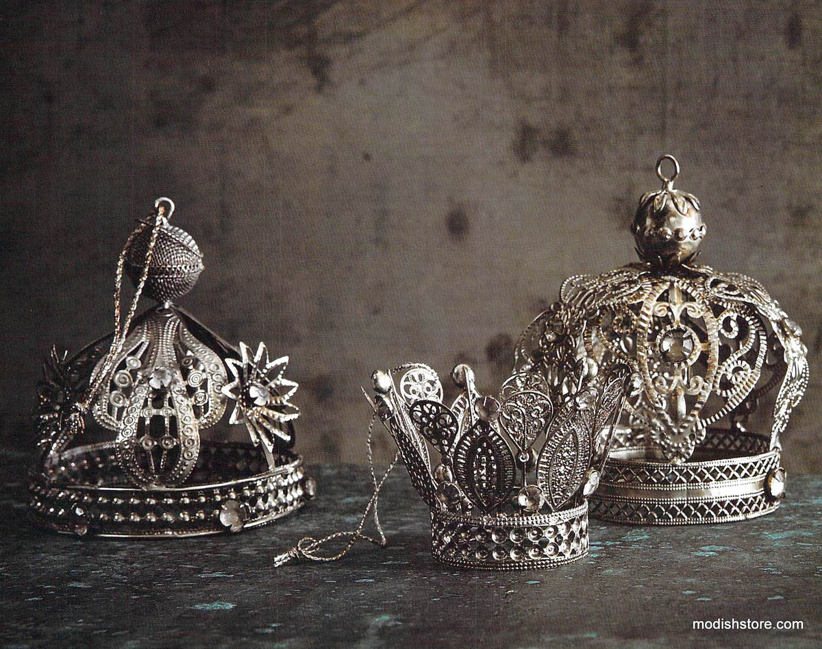 Roost Handmade Filigree Crowns - Set Of 6