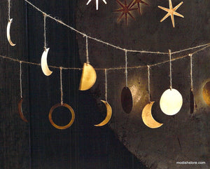 Roost Phases of the Moon Decorative Garland