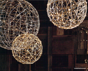 Roost Decorative Metal Silver Light Spheres