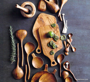 Roost Teak Wood Cutting Boards Centered