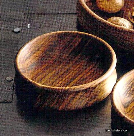 Roost Rosewood & Brass Nutcrackers & Bowl