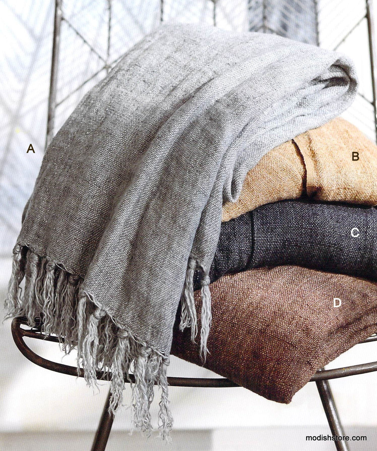 Roost Washed Linen Throws
