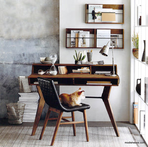 Roost Roubaix Teak Desk & Wall Racks