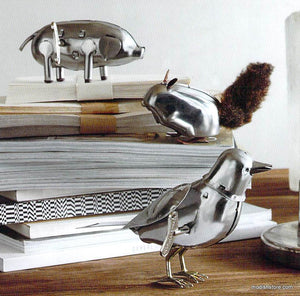 Roost Polished Steel Wind-Up Animals