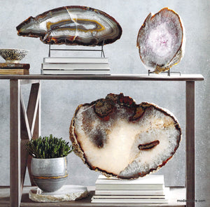 Roost Crystal Slabs & Mineral Stand