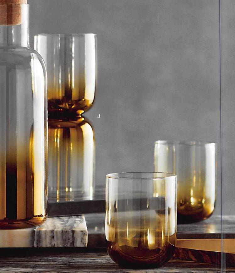 Roost Golden Ombre Glass - Set Of 12