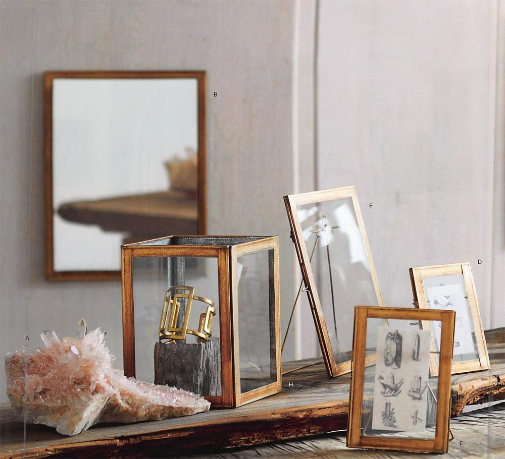 Roost Acanthus Embossed Brass Frame Collection