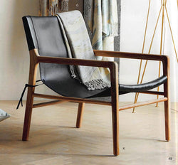 Roost Campanya Chair : Leather, Teak