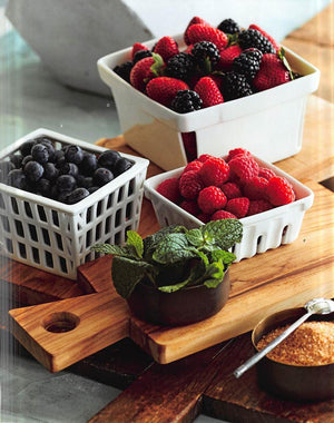 Roost Farmer's Market Baskets - Raspberry - Set/3