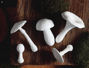 Roost Porcelain Mushrooms - 5Pcs/Set Of 2