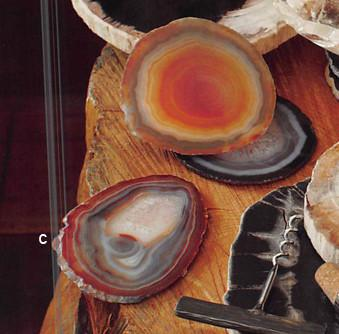 Roost Striped Agate Coasters - Set/6