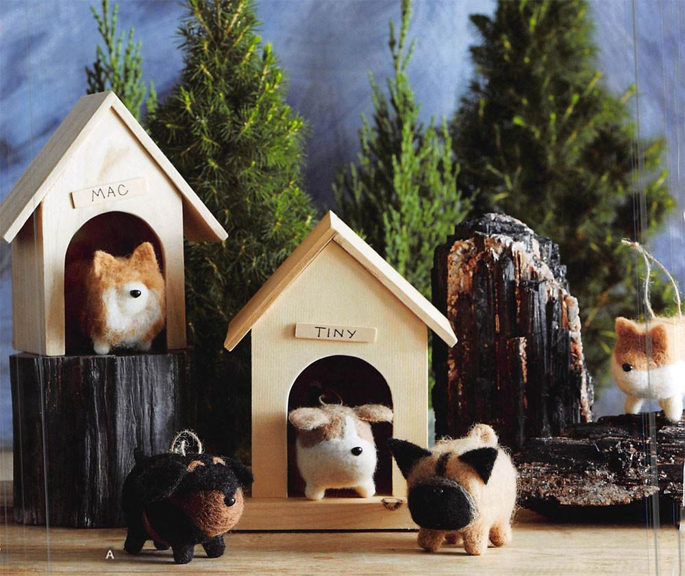 Roost Fat Dog Ornaments - Set Of 10